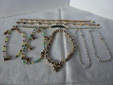 LOT of 8 Sterling Silver, 925 Bracelets, 64 grams, Gemstones