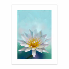 Flower Lotus Painting  Print Canvas Premium Wall Decor Poster