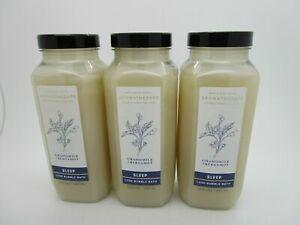 3 BATH & BODY WORKS Aromatherapy CHAMOMILE  BERGAMOT Luxe Bubble Bath