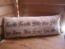 Primitive Stenciled Pillow - Twinkle Twinkle Little Star