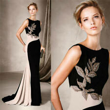 Mother Of The Bride Dresses Sleeveless Appliqued Guest Gown Sheath Floor Length