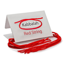 Set 5 Kabbalah red string bracelets from Rachel tomb against evil eye Ben Porat