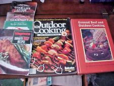 Vintages Cookbooks For Meat Lovers 6 Books Ground Beef Steaks Outdoor Cooking
