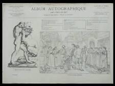 ALBUM AUTOGRAPHIQUE 1867 - DEBUT MARCHAL VIGER WORMS LERAY BERTHON ZAMACOIS