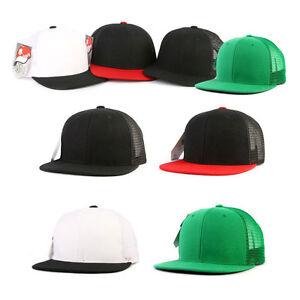 Unisex Mens Womens Mqum Uni Solid Color Mesh Baseball Cap Snapback Hip-hop Hats