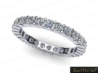 0.75Ct Round Cut Diamond Shared Prong Eternity Band Ring 10k White Gold GH I1