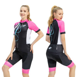 Women Cycling Clothes Jersey Short Set Short Sleeve UK