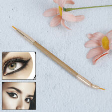 Double Head Eye Liner Brush Angled Tip Eyeliner Gel Cream Makeup Lips Brus CO bc