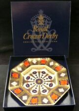 Royal Crown Derby 1128 Imari Solid Gold Band 1st Quality Boxed Octagonal Plate