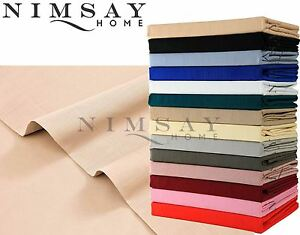 Plain Dyed Flat Top Sheet Single Double Super King Bed All Sizes OR Pillowcases