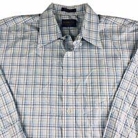 Pendleton Metro Shirt Button Down Long Sleeve Cotton Blue Plaid Check Mens Large