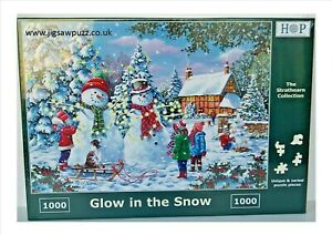 Glow in the Snow New Release Strathearn 1000 House of Puzzles HOP Jigsaw Puzzle