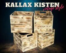 4 Moderner geflammter Kallax Regaleinsatz Holzkisten Einsatz Aufbewahrung