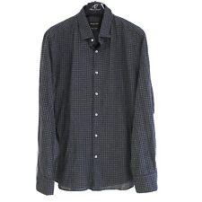 Massimo Dutti Hommes Décontracté Chemise Taille XL Coupe Standard Carreaux Coton