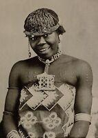 1899 Stampa Coloniale South Africa Un Zulu Maiden Native