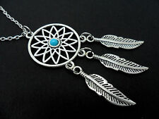 """A LOVELY TIBETAN SILVER  DREAMCATCHER NECKLACE ON 30"""" CHAIN. NEW."""