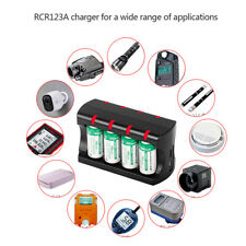 Safety Design RCR123A Battery 8 Slot Charger Overcharge Overcurrent Protection