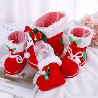 Christmas Flocking Candy Boots Gift Box Socks Bag Xmas Decor Kids Santa Wint SP