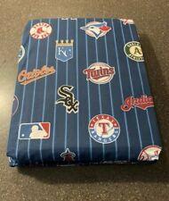 PB Teen Pottery Barn Full Fitted Flat Pillowcase Sheet MLB Baseball Team Logos