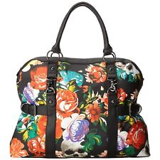 IRON FIST Roaming Heart Overnight Bag Handbag Skull Flower RARE Ladies Womens