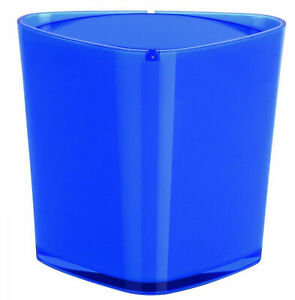 Trix Acrylic Blue Waste Bucket Cosmetic Pail Table Branded Product Switzerland