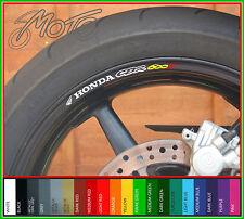 8 x Honda CBR600F Wheel Rim Decals Stickers - Many Colours - cbr 600 f cbr600 f