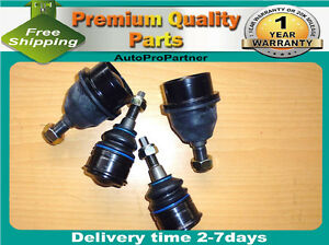 4 FRONT UPPER LOWER BALL JOINT SET JEEP GRAND CHEROKEE COMMANDER 05-10