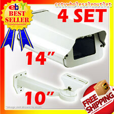 4 SET OF 605 CCTV SECURITY CAMERA OUTDOOR HOUSING AND MOUNT BRACKET