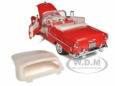1955 CHEVROLET BEL AIR CONVERTIBLE RED SOFT TOP 1/18 MODEL CAR BY MOTORMAX 73184