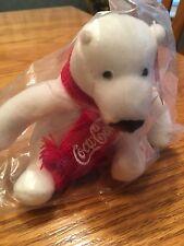"Nip Coca-Cola 4"" White Polar Bear w/ Red Scarf Arctic Home Stuffed Animal/Plush"