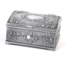 Vintage SCHMUCKSCHATULLE SCHMUCKKÄSTCHEN SCHMUCKKASTEN Antik Silber