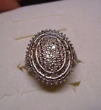 Diamond Ring Size 8  55 diamonds  .50tcw  MSRP $924