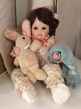 "1990 Baby DOLL Porcelain Sara Connie Walser Derek 18"" Complete in Box EUC Large"