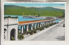 Vintage Postcard - Pergola & Steamboat Landing - Lake George New York