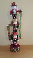 Nutcracker Totem Pole Banner Drummer Stack of 3 Nutcracker Merry Christmas   107