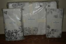 NWT Pottery Barn Kids Natalie nursery crib toddler quilt, skirt & sheet gray
