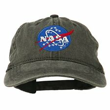 6a4f572b4a0 Nasa Insignia Embroidered Pigment Dyed Cap Black Osfm 100% Cotton Unknown  New