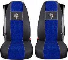 COPRISEDILI IN VELOURS Scania R dal 2004 NERO - BLU 2 cinture di sicurezza