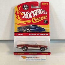 '67 Pontiac GTO Convertible * Orange * Hot Wheels Classics * E38