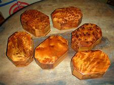 10x Handmade Thuya Burr Wood Jewellery Box