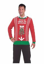 Christmas Sweater Medium, Kiss Me Under The Mistleto #314855