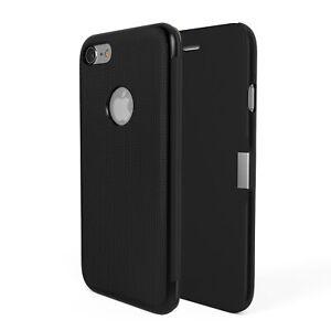 Apple iPhone 7   Hülle Tasche Schutz Etui Case Cover Flip Case schwarz