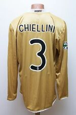 MATCH WORN JUVENTUS ITALY 2010 FOOTBALL SHIRT JERSEY MAGLIA NIKE #3 CHIELLINI