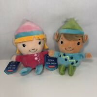 Hallmark Collectible North-pole Girl Elf & Boy Elf Small Plush Christmas Elves🎄