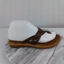 Ugg Australia Mireya Womens Size 7 Brown Leather Flip Flop Thong Sandals