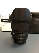 SIGMA 24mm f1.4 DG HSM Art Objektiv für NIKON - OVP ausgezeichnet