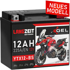 Langzeit YTX12-BS Motorradbatterie GEL 12V 12Ah Batterie CTX12-BS 51012 GTX12-BS