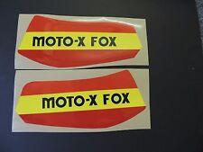 1978 Yamaha YZ 125 MOTO X FOX Gas Tank Decal Set. AHRMA VINTAGE MOTOCROSS