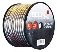 12 Gauge 250'' Roll Speaker Wire 12 Ga Cable Clear Home/ Car 250 Ft. Spool