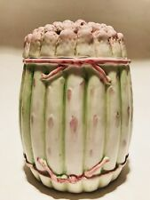 Vintage Canister Jar With Lid Asparagus Made In Italy